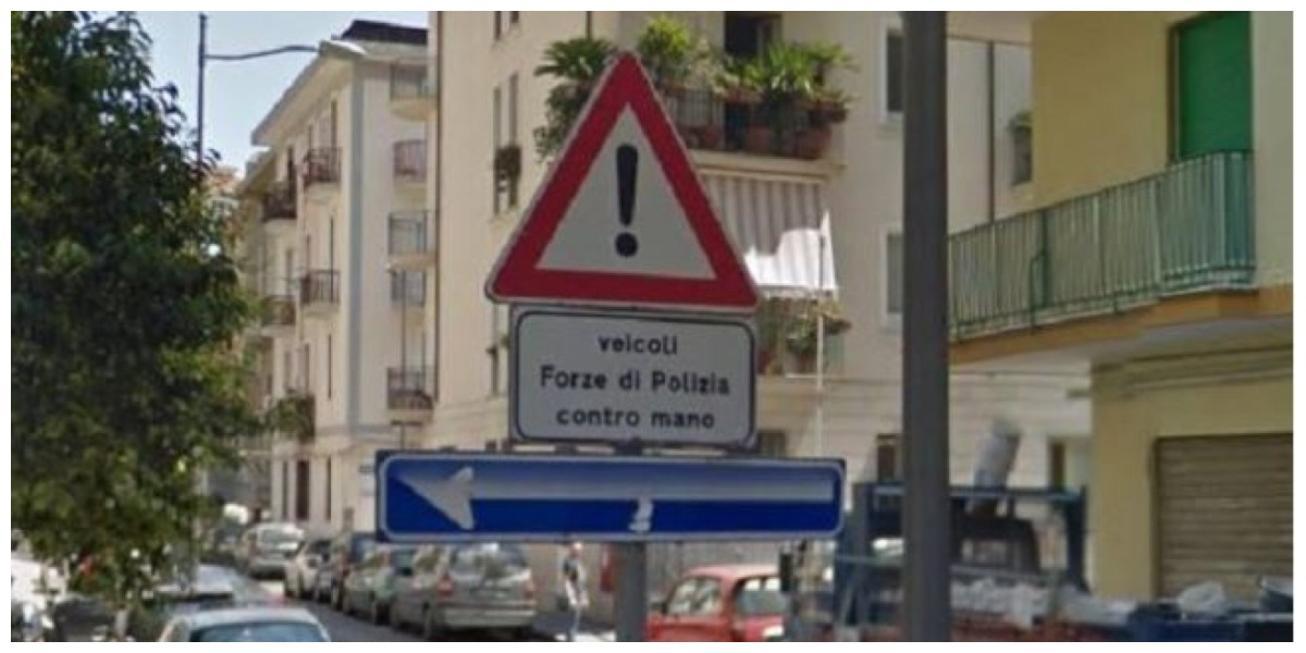 Salerno: segnaletica impossibile… ma vera