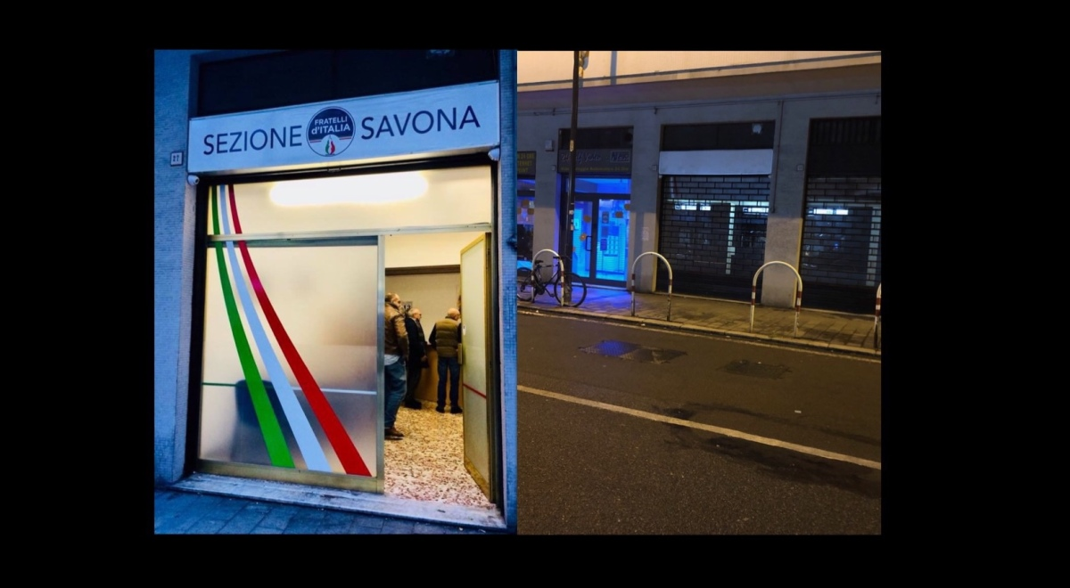 La sezione savonese di Fratelli d'Italia abbassa la saracinesca